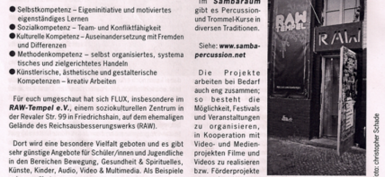 Artikel in der Flux Schülerzeitung
