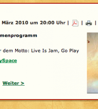 Montag, 01.03; 21.00h TuneUp Session