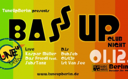 BassUP Club Night  // 01.12. // Badehaus